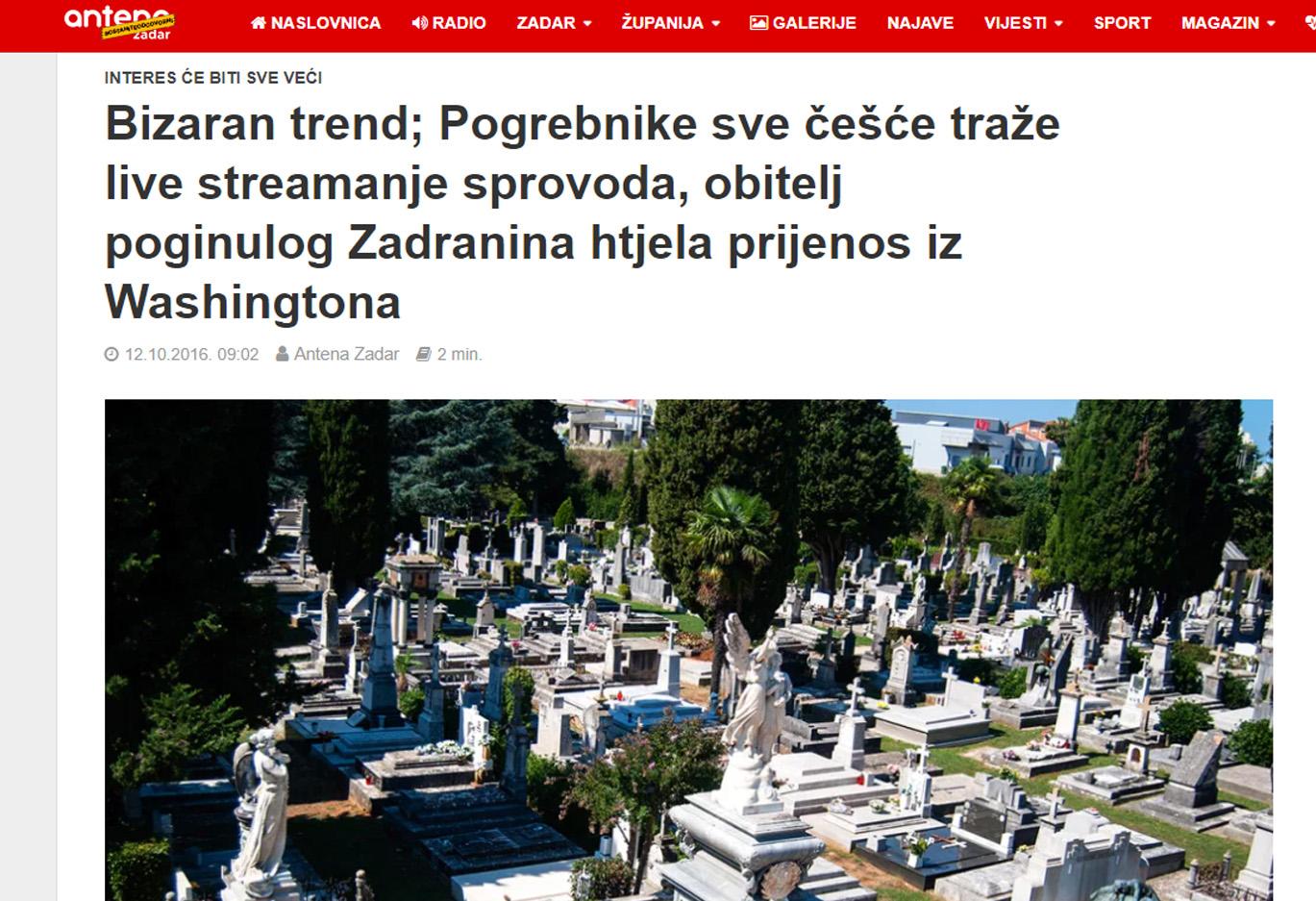 Pogrebnici - Antena