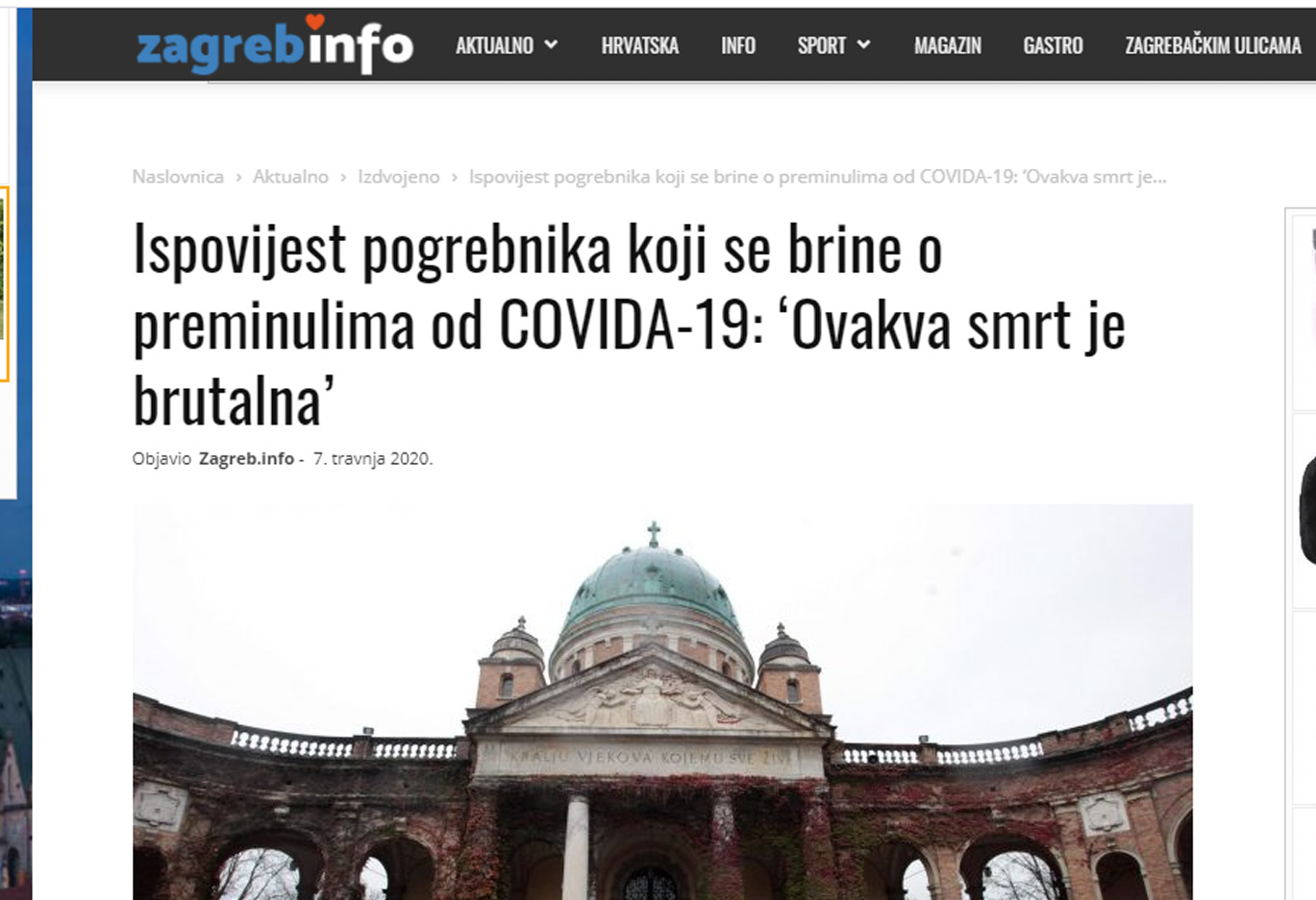 Pogrebnici - Zagrebinfo